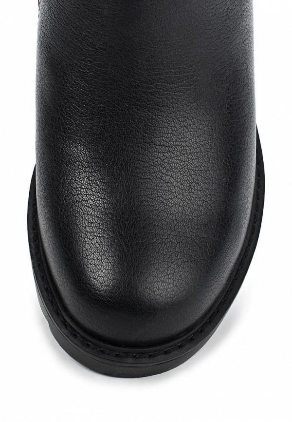 фото Сапоги женские на каблуке Betsy BE006AWKT442, черные кожаные