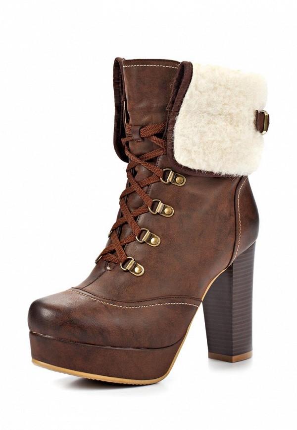 фото Ботильоны на платформе и толстом каблуке Betsy BE006AWLA124, коричневые