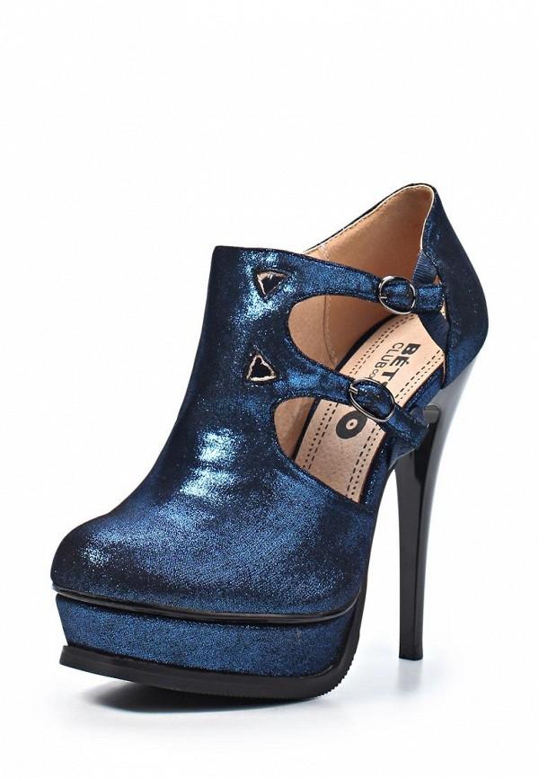 фото Ботильоны на платформе и высоком каблуке Betsy BE006AWLE429, синие
