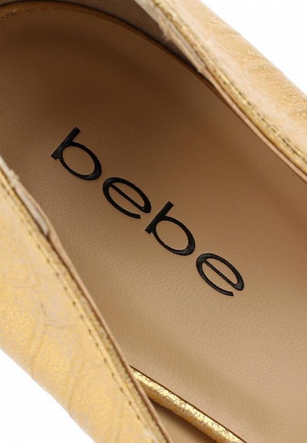 фото Туфли на платформе и высоком каблуке Bebe BE007AWBQG39, золотые