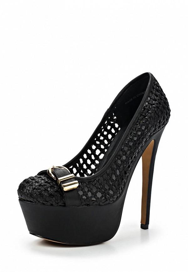 фото Туфли на платформе и высоком каблуке Bebe BE007AWBRC97, черные