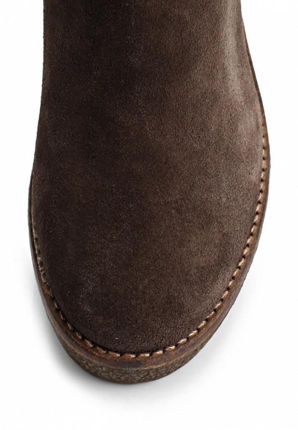 фото Ботильоны на толстом каблуке Belmondo BE344AWIN756, коричневые замшевые