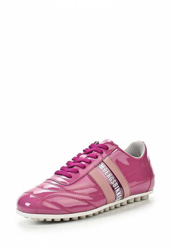 фото Кроссовки женские Bikkembergs BI535AWAFD99, розовые лаковые