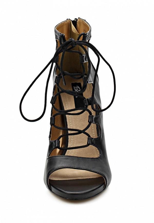 фото Ботильоны на высоком каблуке Blink BL333AWBQZ25, черные со шнуровкой