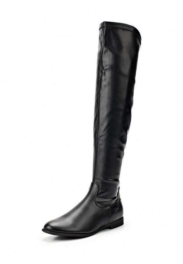 фото Сапоги женские высокие Blink BL333AWBUW00, черные кожаные