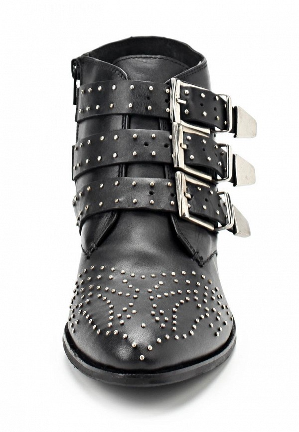 фото Ботинки женские на каблуке Blink BL333AWBUW05, черные кожаные