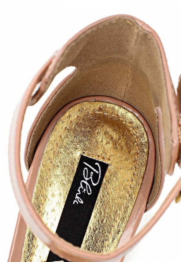 фото Женские туфли на каблуке Blink BL333AWLQ156, бежевые из лаковой кожи