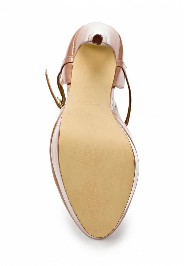 фото Туфли на платформе и высоком каблуке Blink BL333AWLQ187, бежевые (кожа-лак)