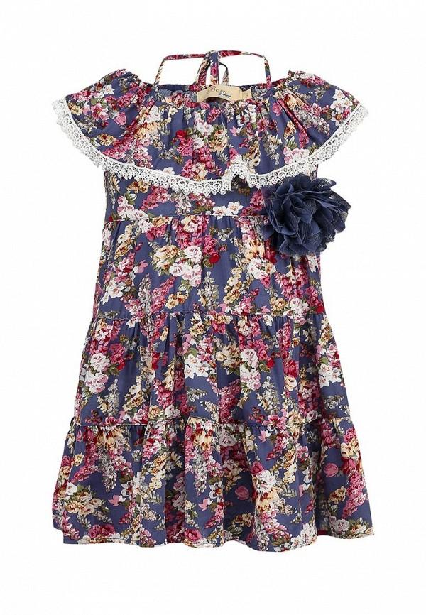 Платье Born 13-2002-FCголуб/малиновый: изображение 1