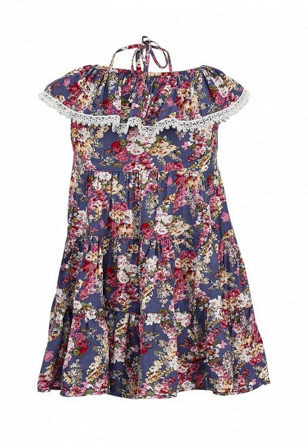 Платье Born 13-2002-FCголуб/малиновый: изображение 2