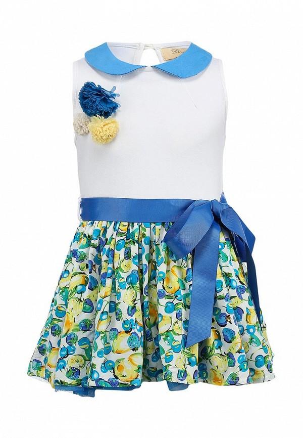 Нарядное платье Born 13-2005-AFбелый/голубой: изображение 2