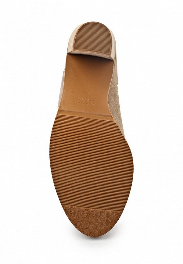 фото Женские полусапожки на толстом каблуке Boss Orange BO456AWAAN13, бежевые