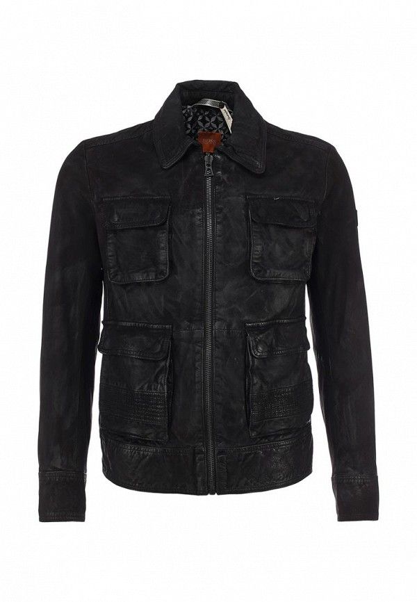 Кожаная куртка Boss Orange 50259732: изображение 2