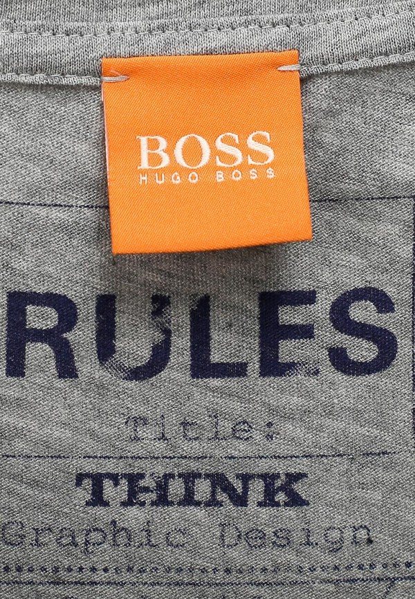 Футболка с надписями Boss Orange 50271042: изображение 4