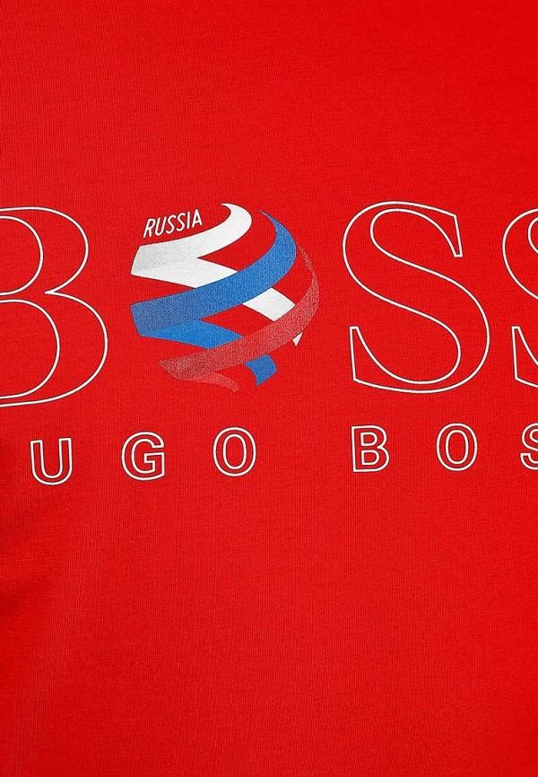 Футболка с надписями Boss Green 50260471: изображение 10