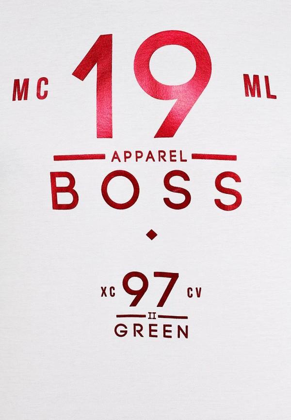 Футболка с надписями Boss Green 50259683: изображение 13