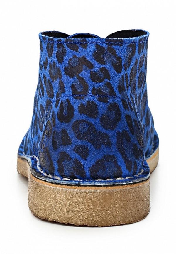 фото Полуботинки женские Bronx BR336AWCHB75, синие под леопарда