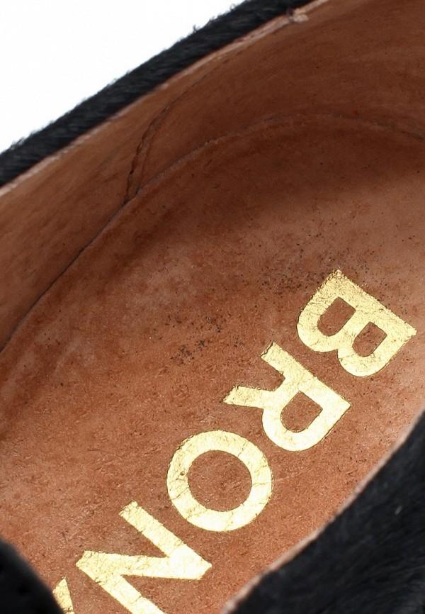 фото Полуботинки женские на каблуке Bronx BR336AWLQ113, черные кожаные