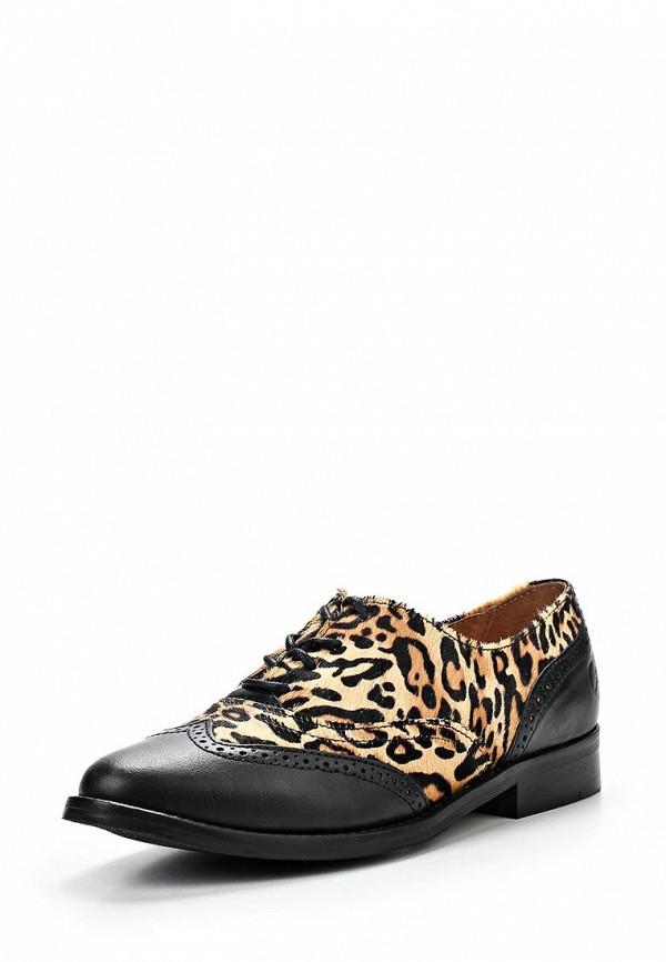 фото Полуботинки женские на каблуке Bronx BR336AWLQ114, черные/леопардовые