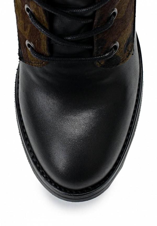 фото Ботильоны на толстом каблуке Bronx BR336AWLQ120, черные/хаки
