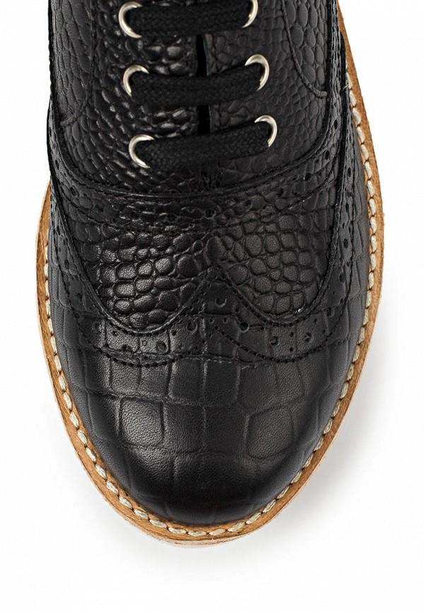 фото Полуботинки женские на каблуке Bronx BR336AWLQ135, черные кожаные
