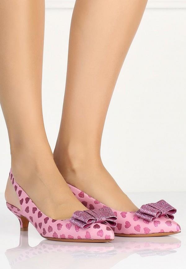 фото Туфли на низком каблуке Bruno Magli BR833AWAJZ25, розовые без задников