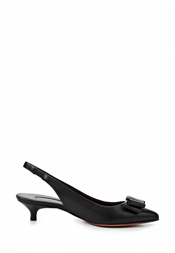 фото Босоножки на низком каблуке Bruno Magli BR833AWAJZ27, черные закрытые