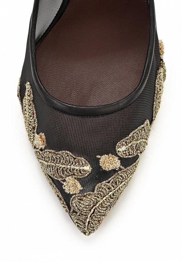 фото Туфли на каблуке-шпильке Bruno Magli BR833AWBDX65, черные с золотым