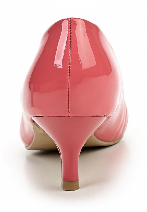 фото Туфли на низком каблуке Burlesque BU001AWBQU46, розовые (кожа, лак)