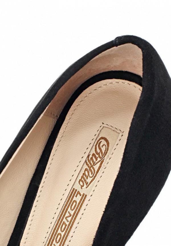 фото Женские туфли на каблуке Buffalo London BU902AWARK97, черные замшевые
