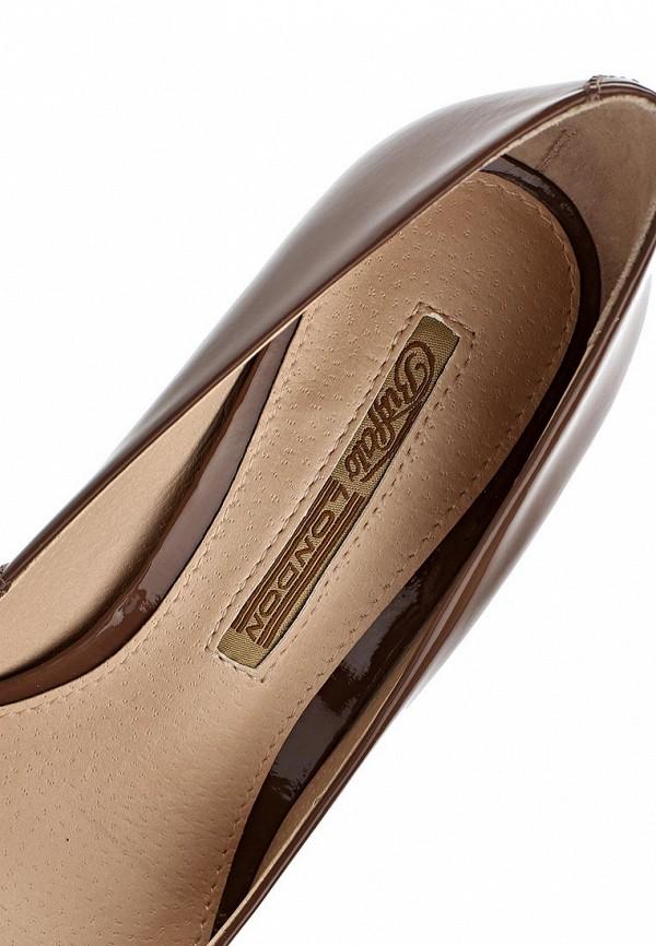 фото Туфли на высоком каблуке Buffalo London BU902AWARL06, коричневые (кожа-лак)