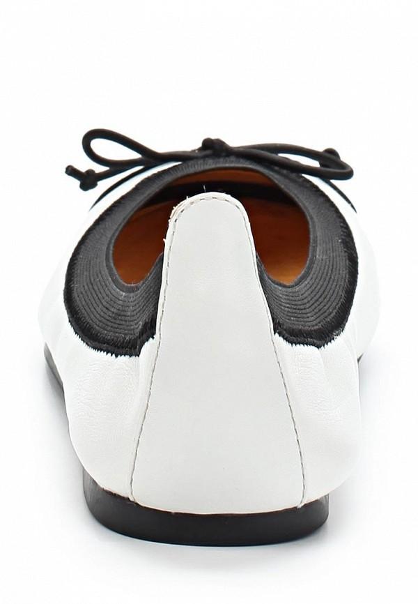 фото Балетки женские Buffalo London BU902AWARL53, белые с черным (кожа)