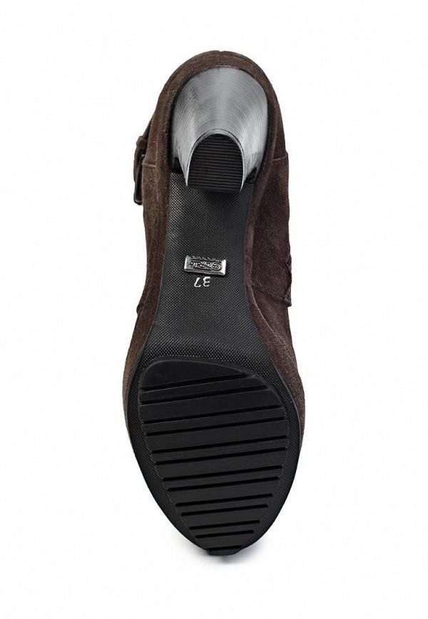 фото Полусапоги на каблуке и платформе Buffalo London BU902AWJC174, коричневые
