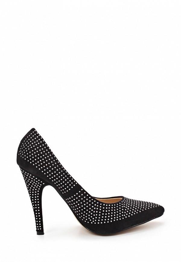фото Женские туфли со стразами Camelot CA011AWBBC05, черные/каблук