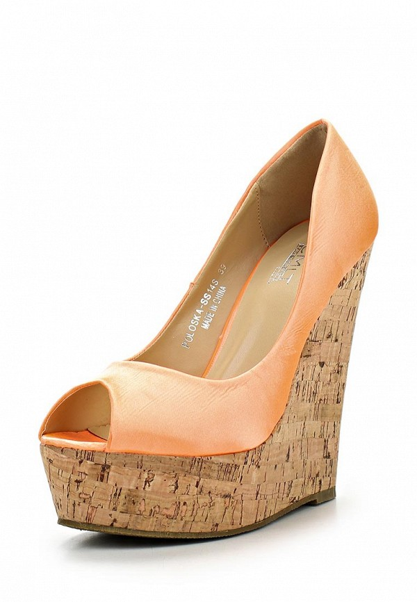 фото Туфли женские платформе Camelot CA011AWBBC79, оранжевые