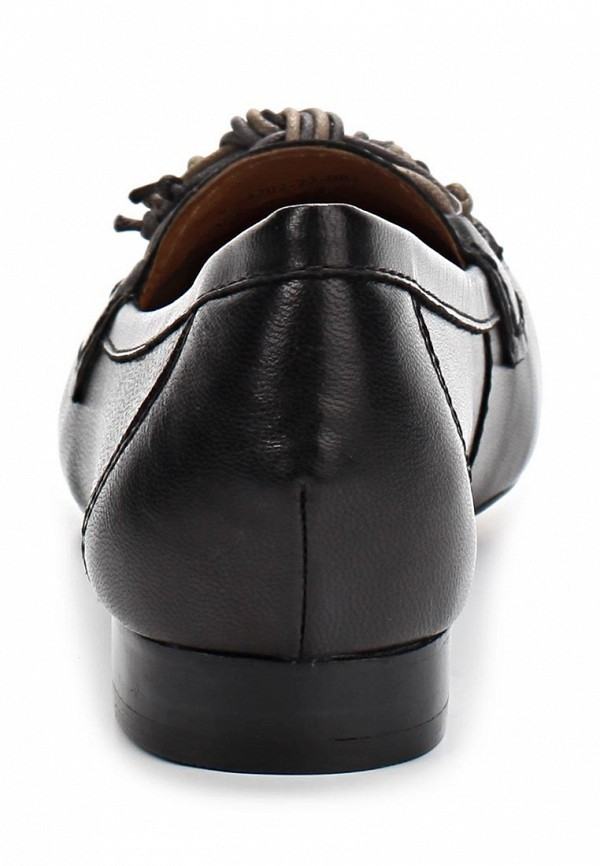 фото Лоферы женские Caprice CA107AWAPA17, черные на каблуке