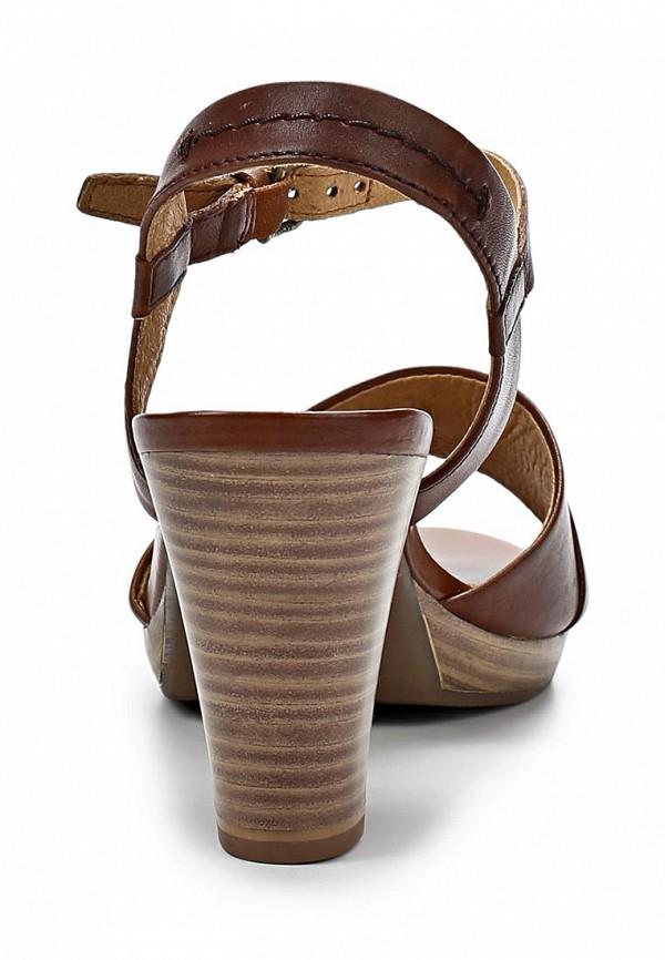 фото Босоножки на каблуке Caprice CA107AWAPA43, коричневые