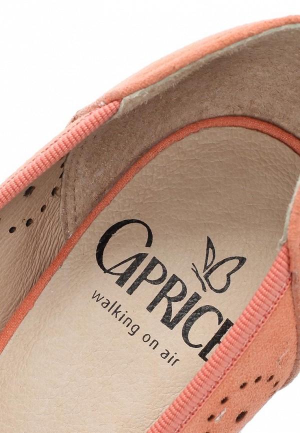 фото Туфли на каблуке Caprice CA107AWAPA45, оранжевые замшевые