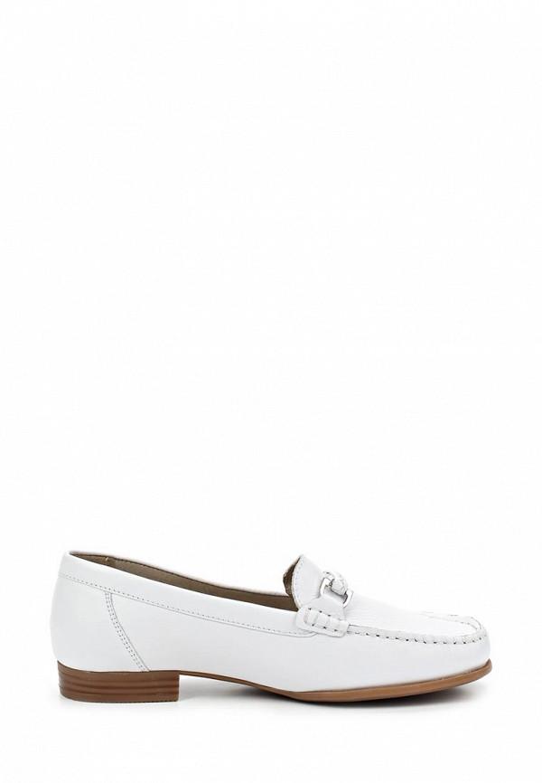 фото Лоферы женские на каблуке Caprice CA107AWAPA75, белые