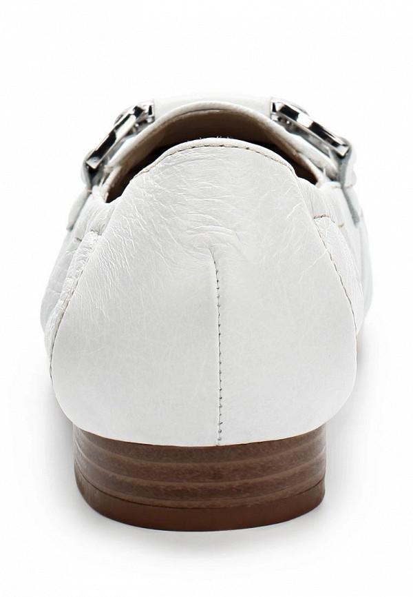 фото Лоферы женские Caprice CA107AWAPA90, белые/каблук