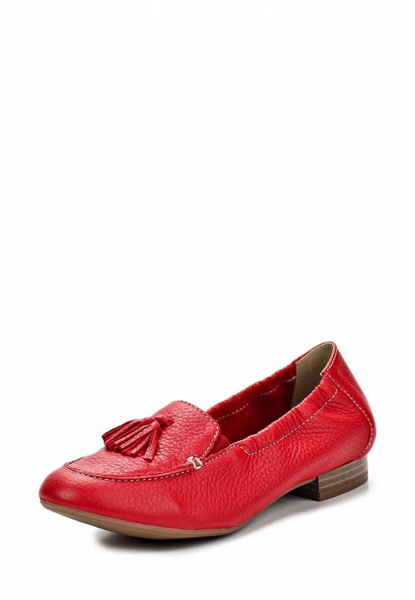 фото Туфли-лоферы на каблуке Caprice CA107AWAPA92, красные