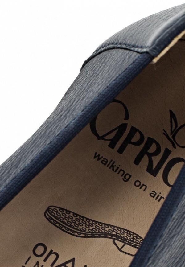 фото Балетки на каблуке Caprice CA107AWAPA98, темно-синие (кожа)