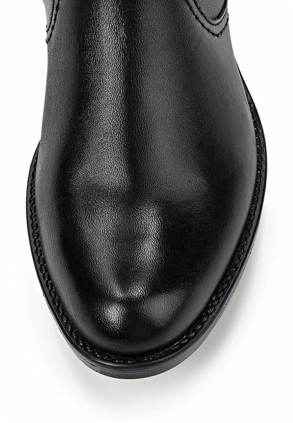 фото Сапоги женские на каблуке Caprice CA107AWCDM62, черные кожаные
