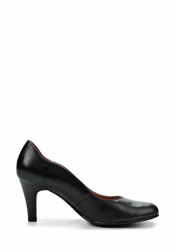 фото Туфли женские на каблуке Caprice CA107AWCEM25, черные (кожа)