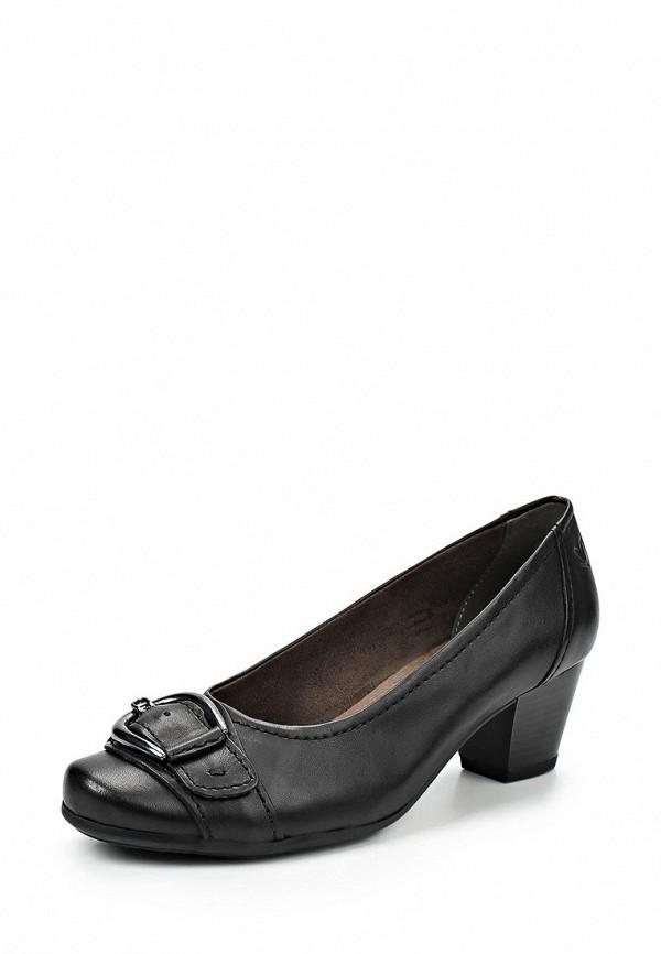 фото Туфли на толстом невысоком каблуке Caprice CA107AWCEM27, черные