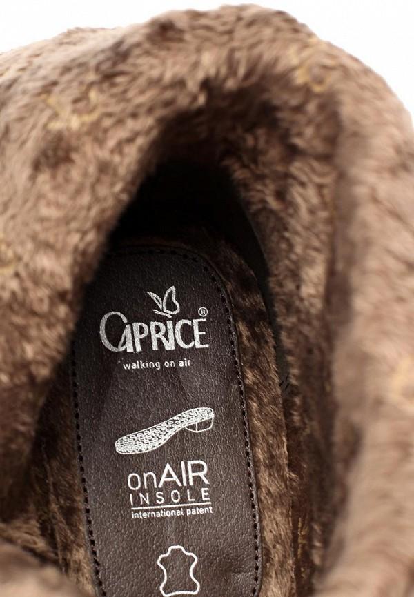 фото Женские полусапожки на низком каблуке Caprice CA107AWCEM35, коричневые