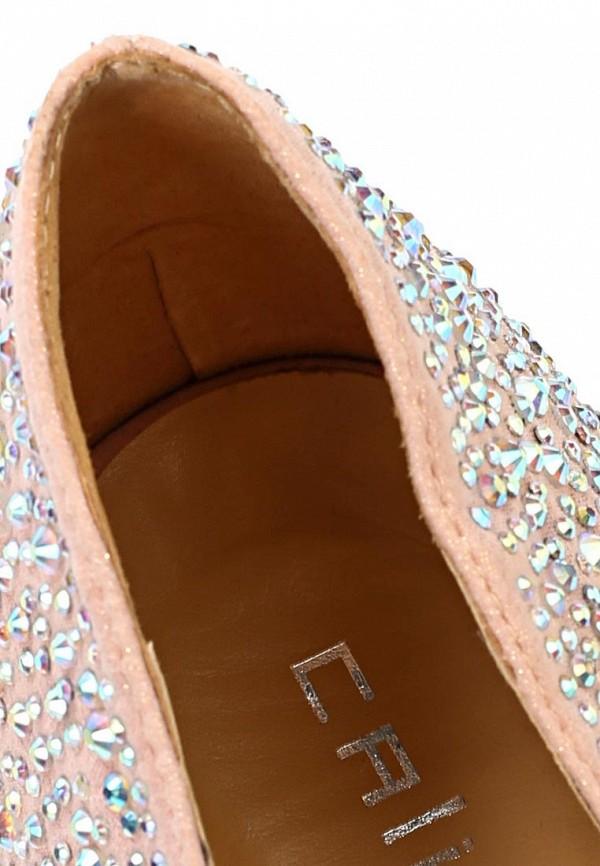 фото Туфли на платформе и шпильке Calipso CA549AWBBP29, бежевые/стразы