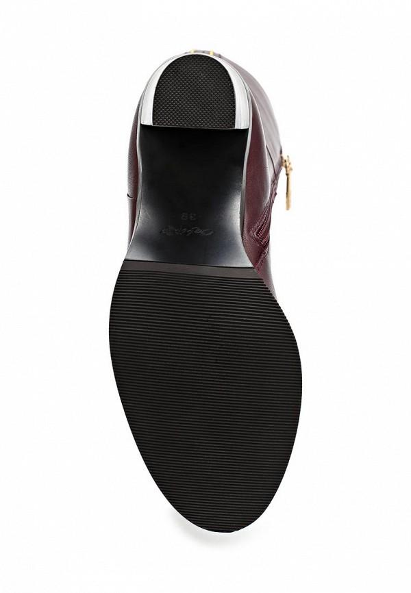 фото Сапоги женские на высоком каблуке Calipso CA549AWCFT89, бордовые (кожа)