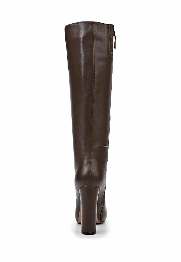 фото Сапоги женские на высоком каблуке Calipso CA549AWCNY15, коричневые (кожа)