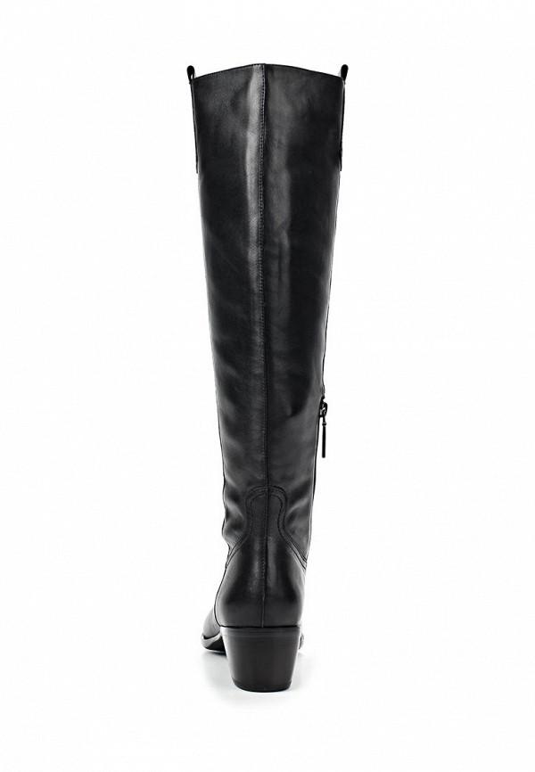 фото Сапоги женские на низком каблуке Calipso CA549AWCNY16, черные (кожа)